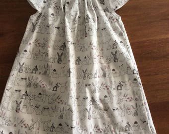 Flutter dress size 2 and 3 summer dress  girls dress flutter sleeve toddler dress summer dress