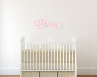 Custom Name Wall Decal / Nursery Wall Sticker / Personalized Vinyl Wall Lettering
