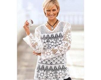 crochet lace top pattern,crochet tunic pattern,crochet lace tunic,crochet pullover pattern,crochet boho top pattern,crochet cover up pattern