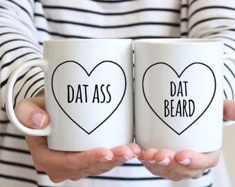 Anniversary Gifts for Men Anniversary Gifts for Boyfriend Gift Couples Gift Set Boyfriend Birthday Gift for Boyfriend Dat Beard Coffee Mug