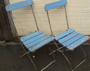 Pair of French Garden Chairs