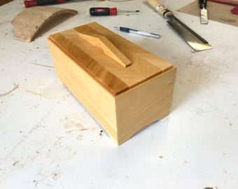 Jewellery And Trinket Box In Huon Pine