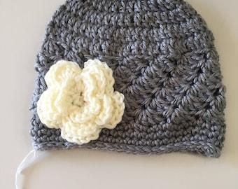 Flower Hat (gray)