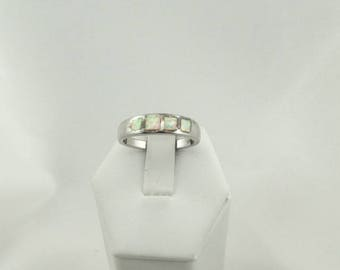 Vintage Opal Inlay Sterling Silver Ring #OPAL4-SR6