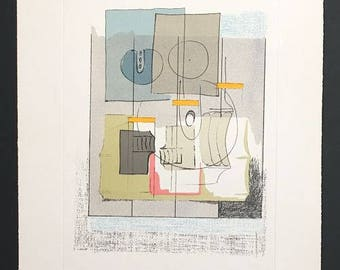 Agostino Bonalumi - The House of the Wind -  lithograph signed and numbered in pencil by the artist.