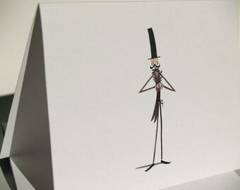 Top Hat Gentleman Thank You Cards