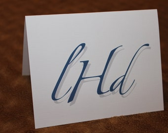 Personalized Note Cards - Stationary - Monogrammed - Set of 12