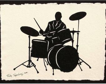 ELVIN JONES Papercut - Hand-Cut Silhouette