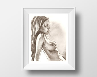 Iris - illustration - giclee print