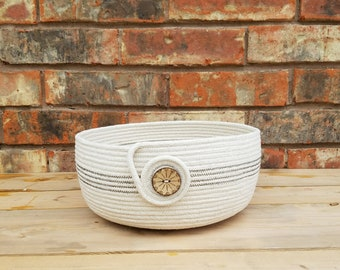 Handmade Coiled Rope Basket/Bowl