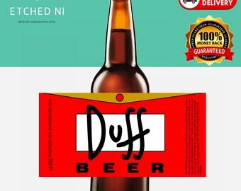 4 Personalised Simpsons Duff-brand Beer Labels - Duff Beer - Simpsons ***FREE POSTAGE***
