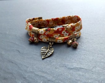 liberty bracelet 2 towers 'autumn' glass and Crystal