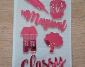 Mirror stickers