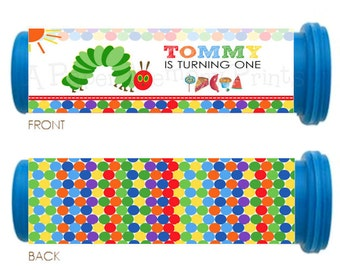 Hungry Caterpillar Mini M&M Tube Wrappers DIY Printable