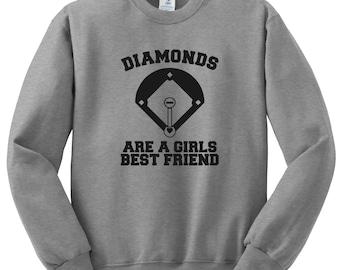 Diamonds Are A Girls Best Friend Tshirt, Baseball Softball Funny Humor Shirt Men Women