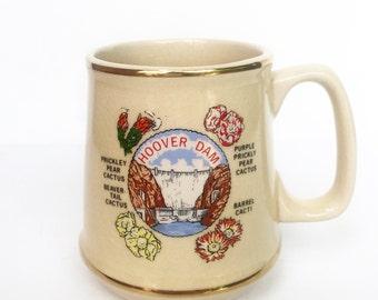 Vintage Hoover Dam Coffee Mug (1970s)