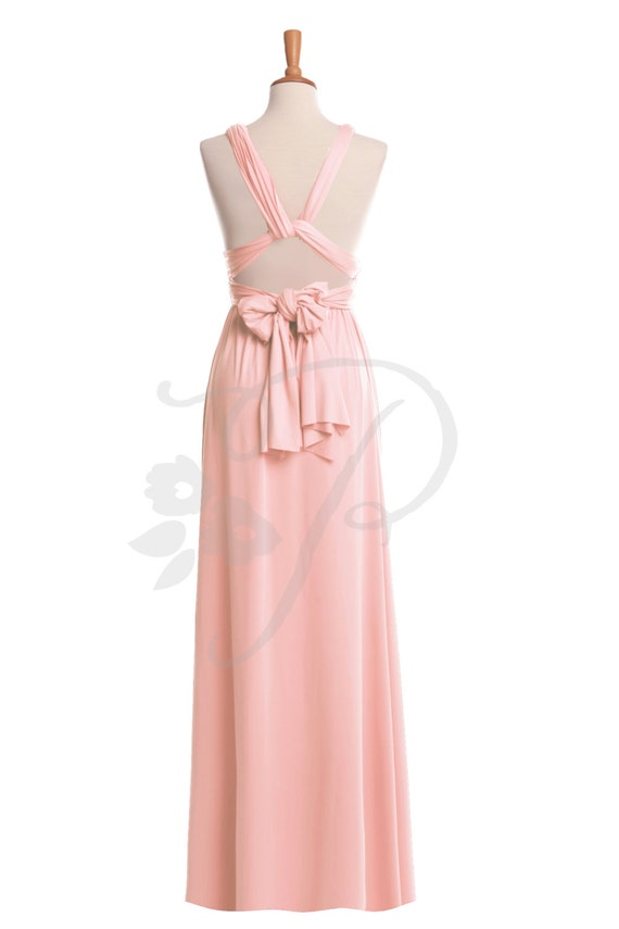 Brautjungfer Kleid erröten Maxi bodenlang Infinity Kleid Prom