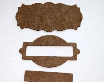 Name Plate Die Cut Chipboard Set of 18