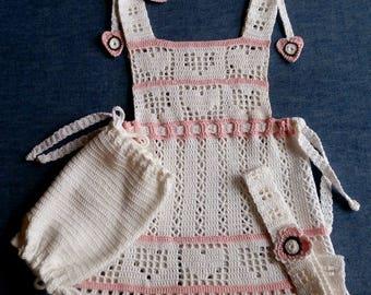 Crochet Baby Dress, Bloomies and Headband PDF Pattern 9-12mo