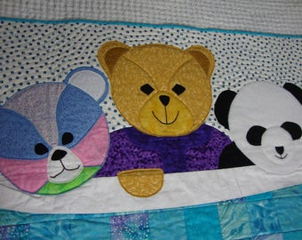 My Three Bears Child Quilted Blanket
