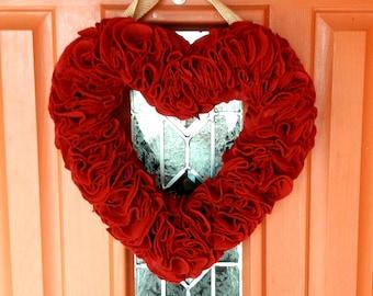 """Heart """"Felt"""" Wreath"""
