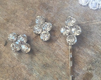 Rhinestone Embellishment Flatback buttons, flatback Brooches, wedding supplies