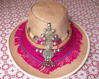 Ibizan leather Hat