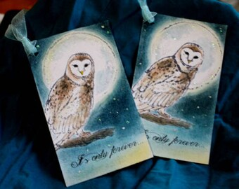 IT'S ONLY FOREVER - Vintage The Labyrinth Tags Set of 6 Decoration,David Bowie