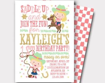 Rodeo invitation etsy cowgirl birthday invitation rodeo birthday invitation farm birthday invitation horse invitation first filmwisefo