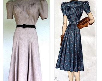 1940's, WWII, Swing Reproduction Vintage Dress