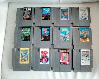 Vintage 1980'S NES Lot various title Video Game for the Original Nintendo Ent System Baseball- King of the beach- Kung Fu - Excitebike