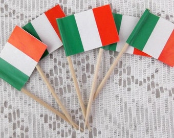 Vintage Italian Flag Picks -  Package of 5