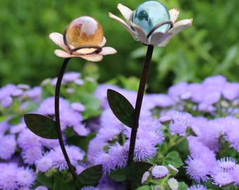 "Fairy Garden Gazing Balls 6"" for the Fairy Garden (Choose Pink or Blue)"