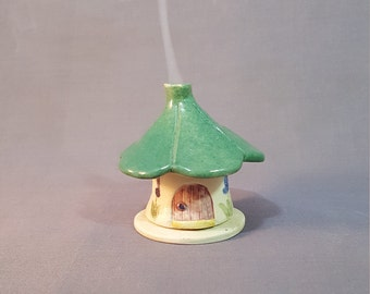 Incense House, Pottery Incense House, Handmade Stoneware Incense House