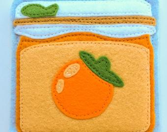 Breakfast coasters- Orange Marmalade Jam Jar (1)