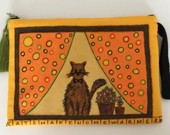 CATS AT HOME - Clutch Bag (Sold)
