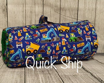 Construction Zone Nap Mat/Personalized/Kinder Nap Mat/Preschool Nap Mat/ Sleep Sack/Quick Ship