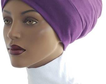 Purple Cotton Knit Dreadlocks Huggee Locks Beanie™ Beanie Cap Slouchy Hat  Dreadlocks Rastafari Big Hair Beanie Hat Handmade