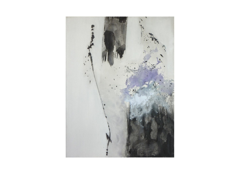 Tableau blanc noir abstrait vertical minimaliste moderne for Tableau minimaliste