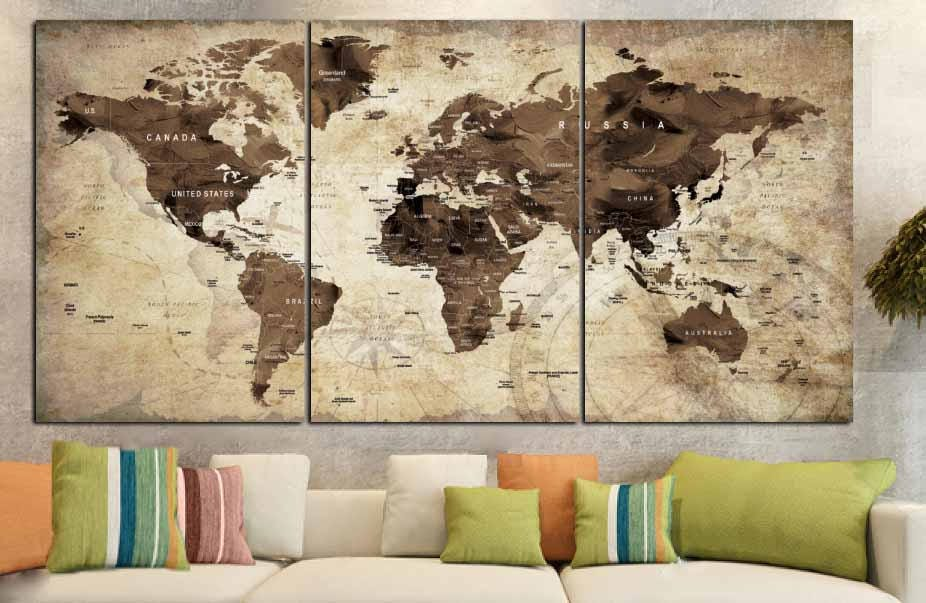 World mapworld map vintagevintage map artworld map wall artworld world mapworld map vintagevintage map artworld map wall artworld map canvas artworld map printbrown world mapold world map wall art gumiabroncs Choice Image