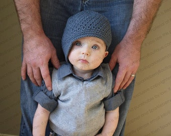 Crocheted Newsboy  Hat Solid Colors Simple Versatile Brimmed Hat Trim Skater