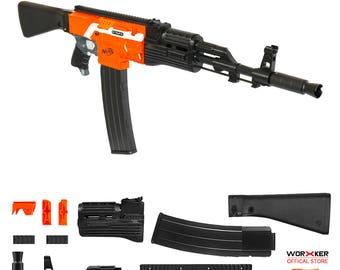 Worker MOD F10555 AK47 Imitation Kit 3D Printing Combo for STRYFE Modify Toy