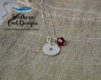 Stamped Intital Necklace