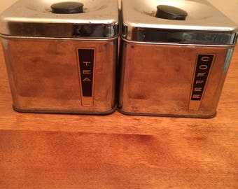 Vintage BeautyWare Tea and Coffee Canisters
