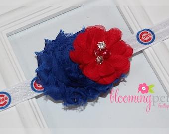 Chicago Cubs Shabby Chic Headband