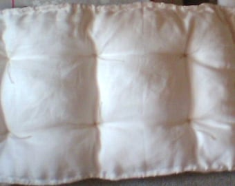 Tufted cushion pure linen, Futon cushion, quilted knotting pillow, linen French mattress pillow