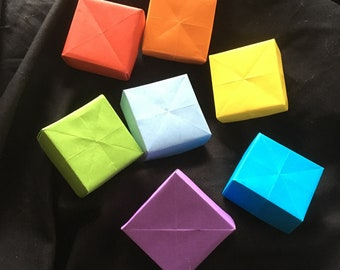 Rainbow boxes for gifts origami