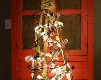 """36"""" Christmas Tree, Primitive Christmas Tree, Christmas Decorations, Rustic Christmas Tree, Country Christmas Tree, Christmas Tree"""