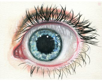 """Wide Eyed 11"""" by 8.5"""" Print"""