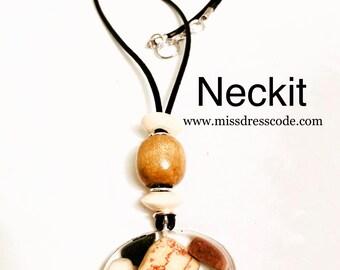 Rocks in Resin Pendant Necklace